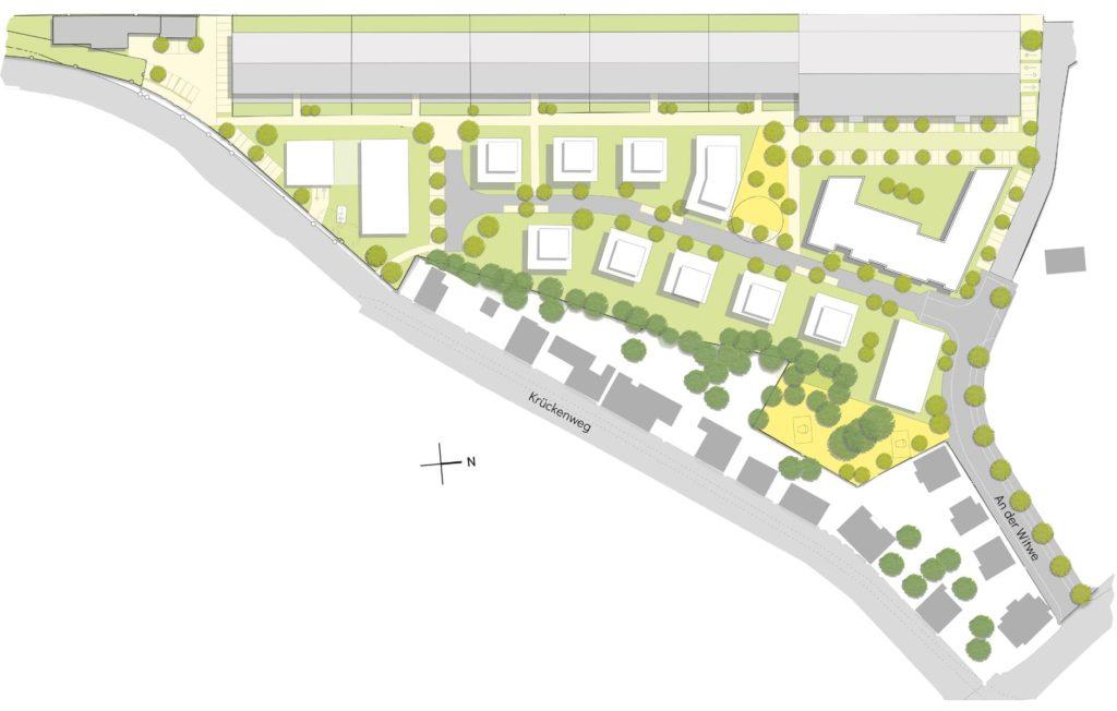 Neue Immobilien im Bau nahe der Westfahlenhalle